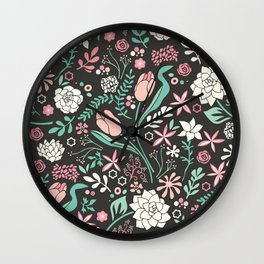 Tulip flowerbed Wall Clock