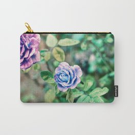 Neon Roses Carry-All Pouch