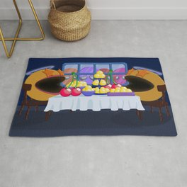 """""""You prepare a table before me in the presence of my enemies."""" Psalm 23:5 Rug"""