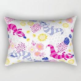 Paint me Pink - Blue Tounge Lizards Rectangular Pillow