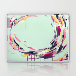 Life Aquatic - Abstract painting by Jen Sievers Laptop & iPad Skin