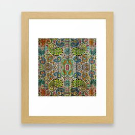 Kashmir on Wood 03 Framed Art Print