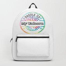 Unicorn Humor Saddle Up My Unicorn Backpack