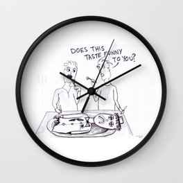 Having a Clown for Dinner Wall Clock