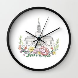 LDS Bountiful Temple  Wall Clock