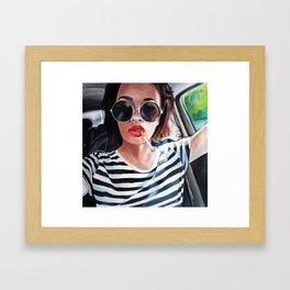 White Black Red Framed Art Print