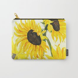 sunflower watercolor 2017 Carry-All Pouch