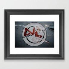 AV Fuel Pinup Girl Framed Art Print