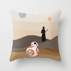 The Force is Here Throw Pillow