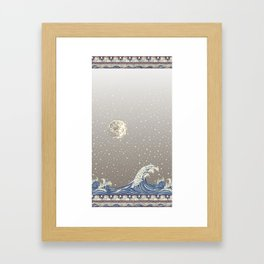 Moon Rabbit Framed Art Print