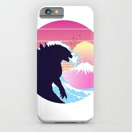 Godzilla retro waves  iPhone Case