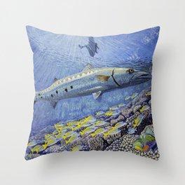 """Barracuda original oil painting 30""""x 40"""" Throw Pillow"""