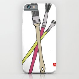 Brushes iPhone Case