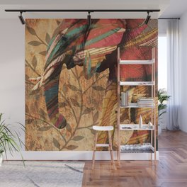 African Patterned Elephants Wall Mural
