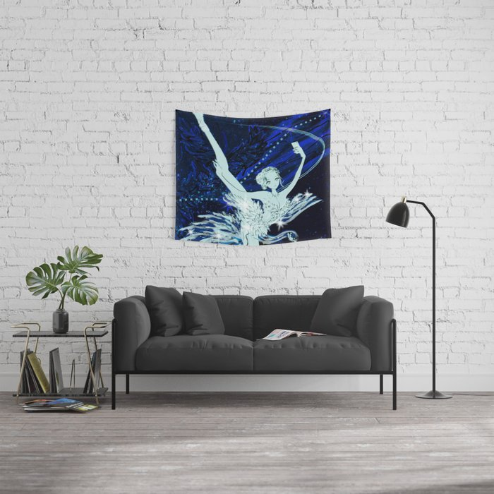 Cygnus / Leda and Swany Wall Tapestry