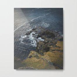 The Ocean on the Rocks Metal Print