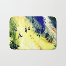 Abstract Yellow Dancer by Robert S. Lee Bath Mat