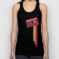 80s Retro Tape Deck Unisex Tank Top
