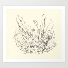 Weeds Rough Sketch Art Print