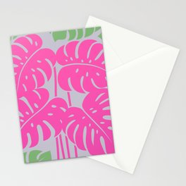 PLANTS - philodendron#3_Pink Stationery Cards