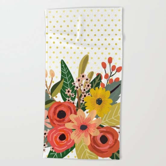 Flowers bouquet #1 Beach Towel