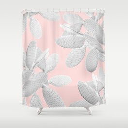 White Blush Cacti Vibes #2 #plant #decor #art #society6 Shower Curtain
