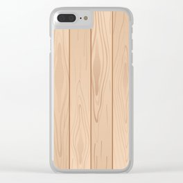 Light Brown Wood Floor Pattern Clear iPhone Case