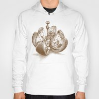 clockwork orange Hoodies featuring Steampunk Orange  (color option) by Eric Fan