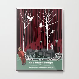 the black lodge Metal Print