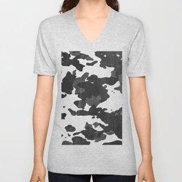 Urban Camouflage Retro Grunge Pattern Unisex V-Neck
