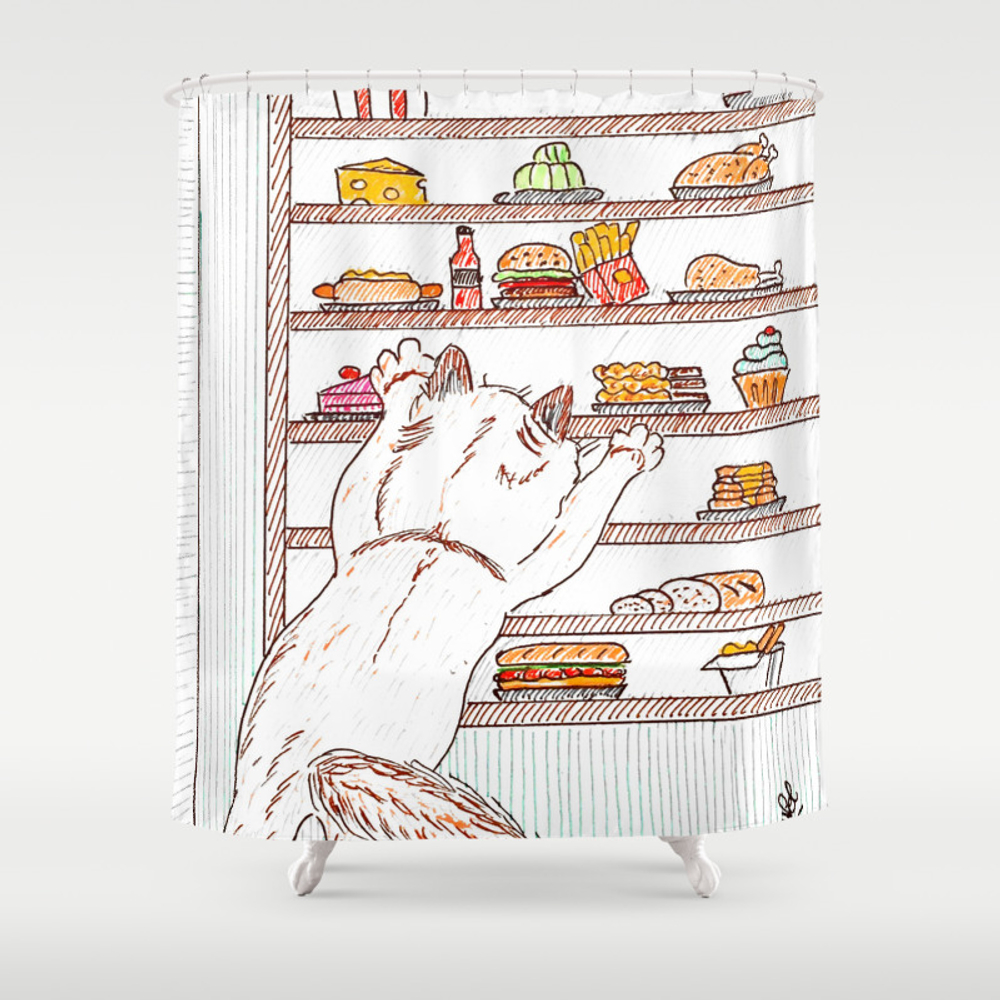 Give Me All The Food! Shower Curtain by Auxcrayonsdenel CTN7764967