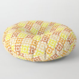 The arrow – brown and yellow Floor Pillow