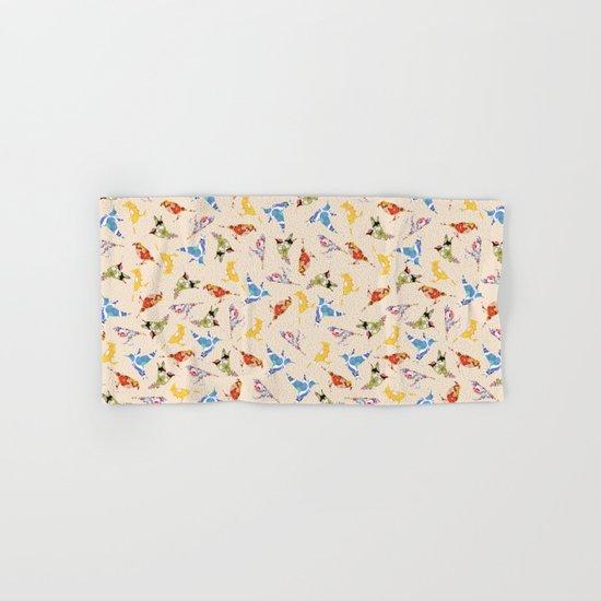 Vintage Wallpaper Birds Hand & Bath Towel