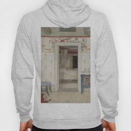 Carl Larsson - Brita's Forty Winks (From a Home watercolor series) Hoody