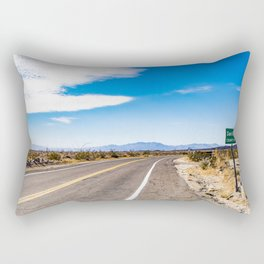 Highway Road Cutting through the Anza Borrego Desert Badlands & Entering San Diego County Sign Rectangular Pillow