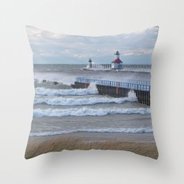 Strong Winds Blowing Throw Pillow