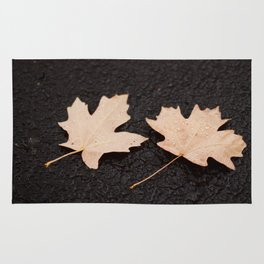 Maple Leaves Photography Print Rug