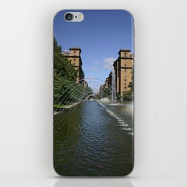 fountain of monumento a los caidos pamplona to Carlos III iPhone Skin