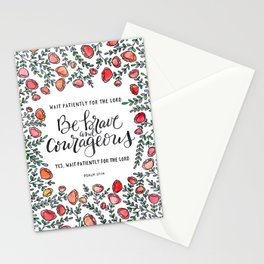 Be Brave and Courageous Stationery Cards