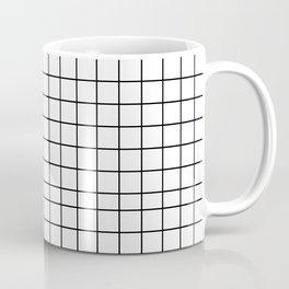 Geometric Black and White Grid Print Coffee Mug
