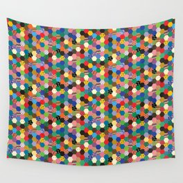 Hexagonal Patchwork Wall Tapestry