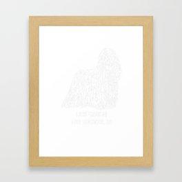 Komondor-tshirt,-just-freaking-love-my-Komondor. Framed Art Print