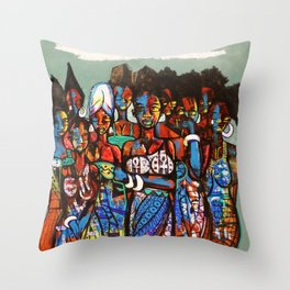 2014 SHE CRIED IN NIGERIA Throw Pillow