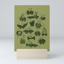 Critter Cars Mini Art Print