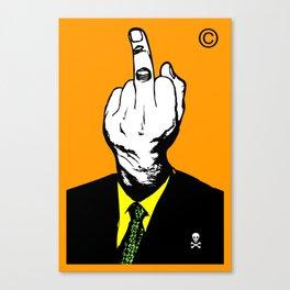 Mr Finger Canvas Print