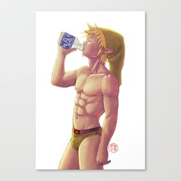 Lonlon Milk makes your body good Canvas Print