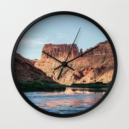 Cathedral Rocks on the River Wall Clock