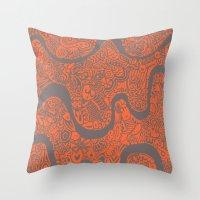 safari Throw Pillows featuring Safari by datavis/pwowk