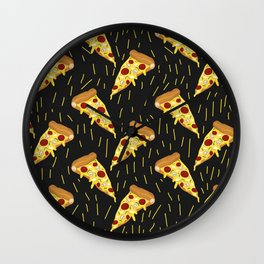 It's Raining Pizza Wall Clock