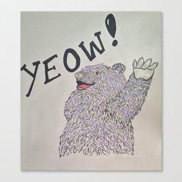 YEOW BEAR  Canvas Print